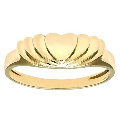 Citerna Women's 9 ct Yellow Gold Heart Ring dsc6qY30