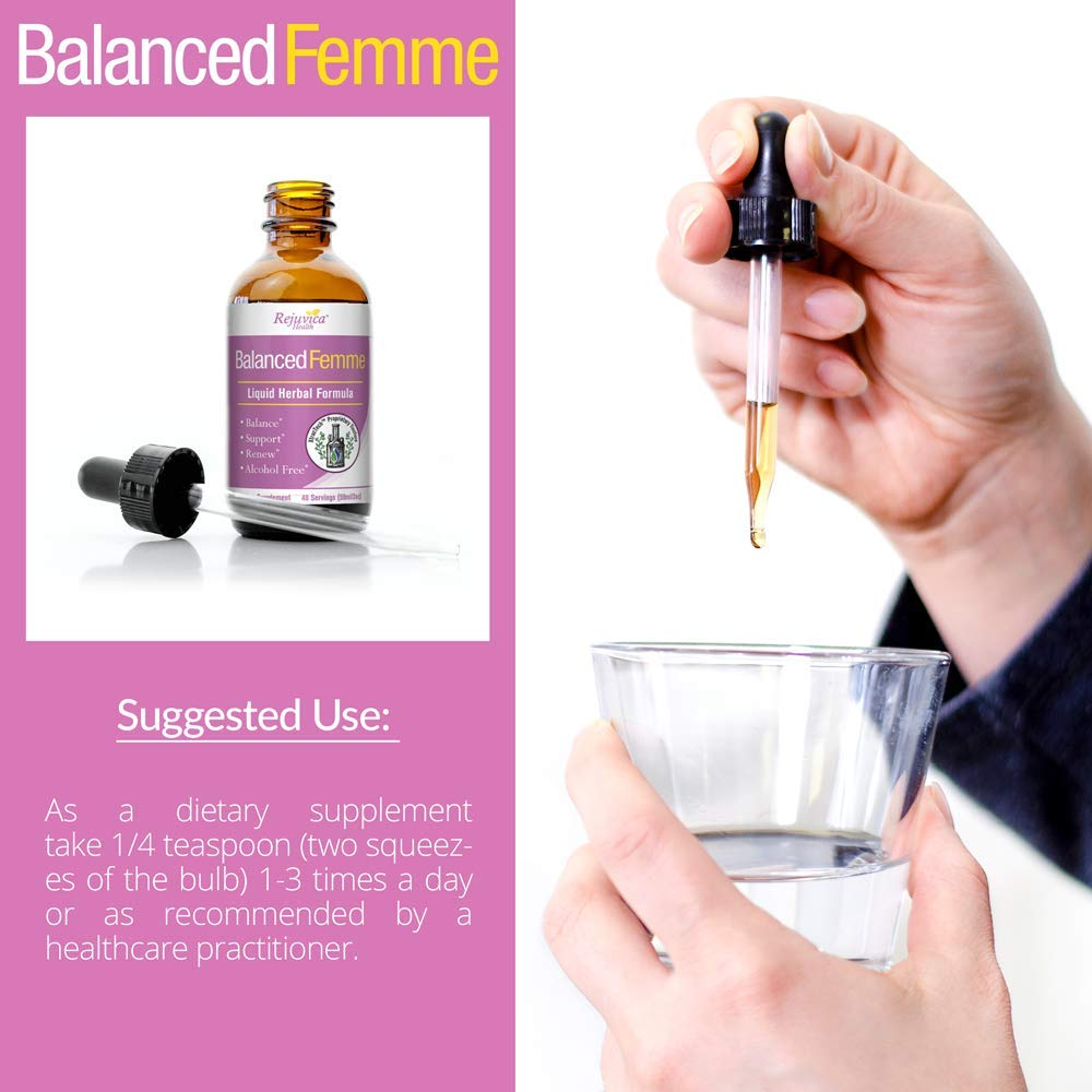 sélection premium aefd7 e033b Balanced Femme - Herbal PMS and Menopause Support - All-Natural Liquid for  2X Absorption - Vitex, Dong Quai, Maca Root and More