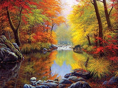 Forest 1000 Piece Puzzle - SunsOut Autumn Sanctuary 1000 Piece Jigsaw Puzzle