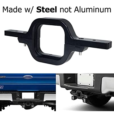 iJDMTOY Tow Hitch Mounting Bracket Compatible With Dual LED Backup Reverse Lights/Rear Search Lighting/Off-Road Work Lamps, Truck SUV Trailer RV, etc: Automotive [5Bkhe2014733]