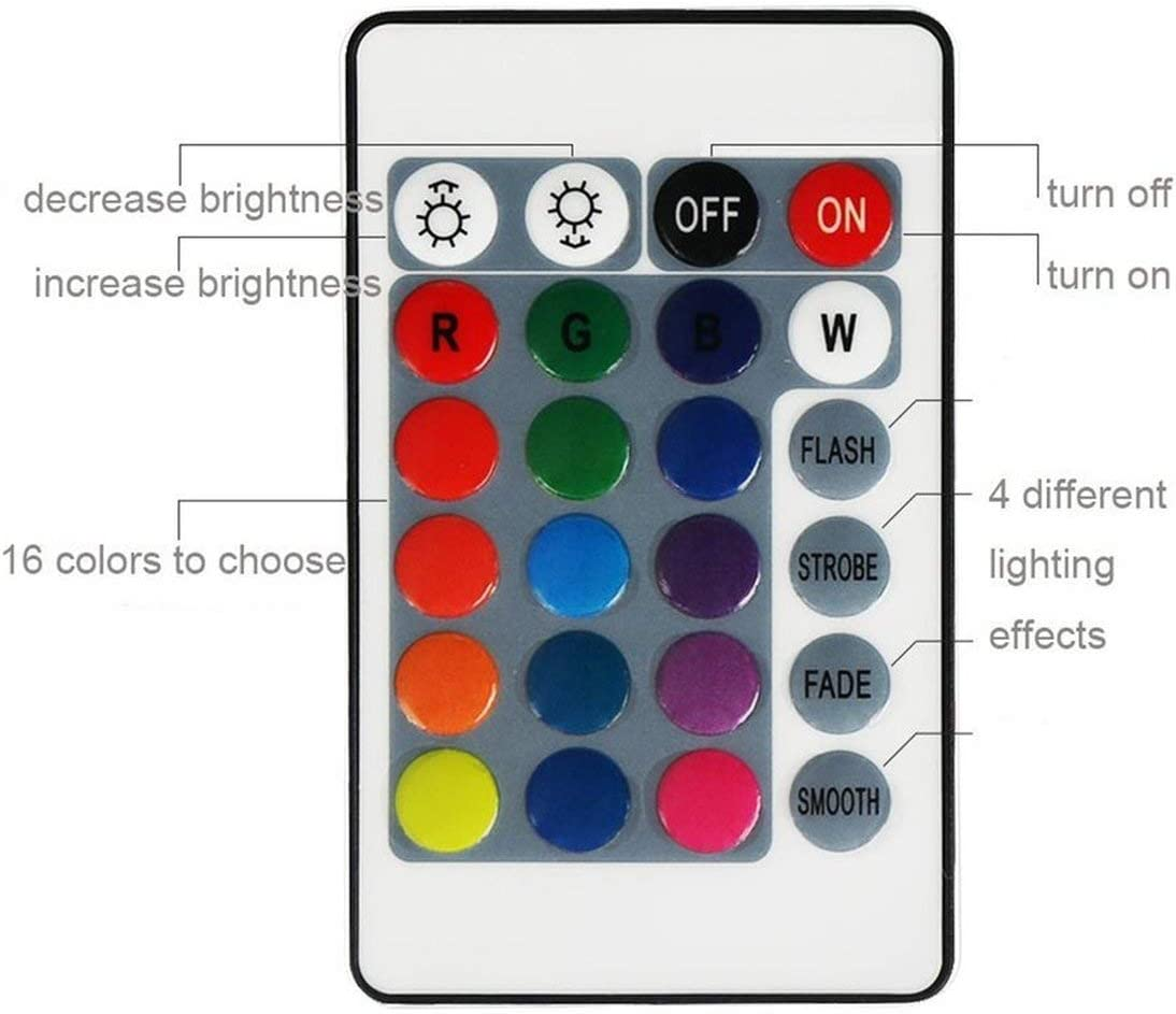 Detectorcatty 3W RGB LED Light Bulb Colorful E27 Multicolor Dimmer Bulb Lamp Indoor Wireless Remote Control for Christmas Party Wedding