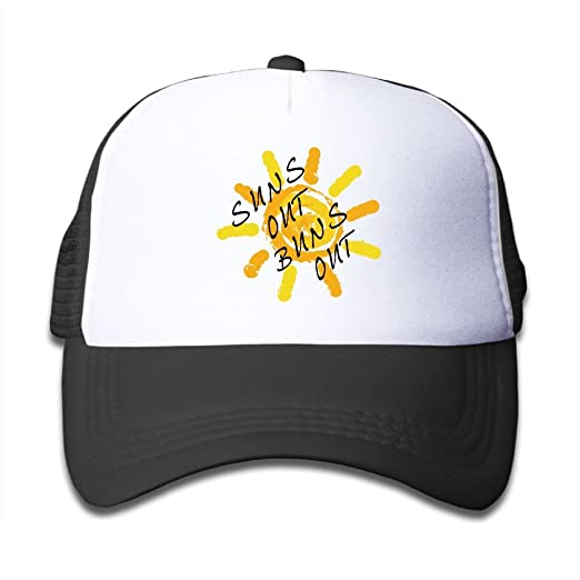 0f6dfe82207 Suns Out Buns Out Boy   Girl Baseball Caps Mesh Hats Fashion Sunhats ...