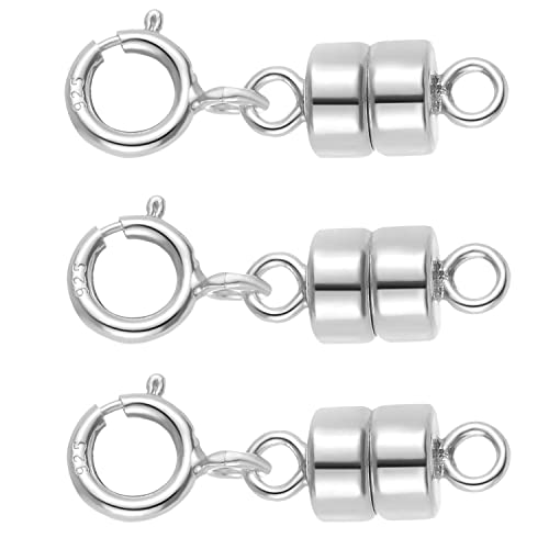 Sterling Silver 4.5mm Magnetic Clasp Necklace Converter