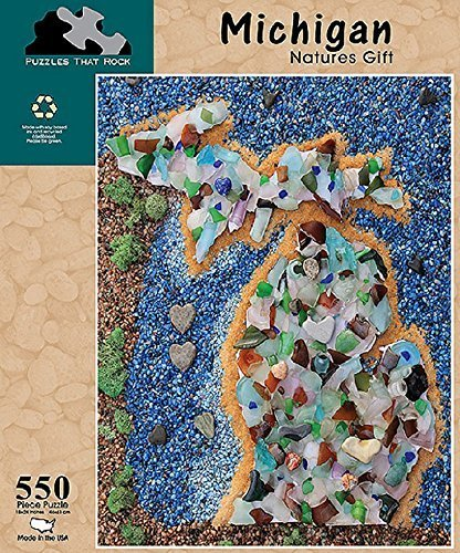 Puzzles That Rock 550 Piece Puzzle - Michigan Natures Gift (Made in the USA)
