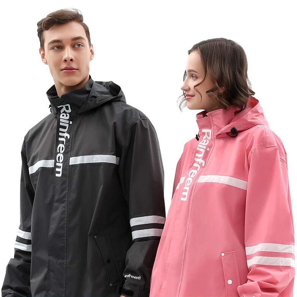 Impermeabile Adulto Split Rainwear Moto Ciclismo Rainwear Cappotto Giacca a Vento da Uomo Giacca da Pioggia Pantaloni Suit Abbigliamento Sportivo da Donna per Outdoor Travel Running
