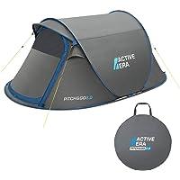 Active Era™ Premium Wurfzelt für 2 Personen - 100% wasserfestes Zelt mit verbesserter Belüftung und praktischer Tragetasche | Perfekt für Festivals und Camping