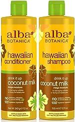 Alba Botanica Drink It Up Coconut Milk, Hawaiian Duo Set Shampoo