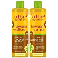 Alba Botanica Drink It Up Coconut Milk, Hawaiian Duo Set Shampoo and Conditioner...