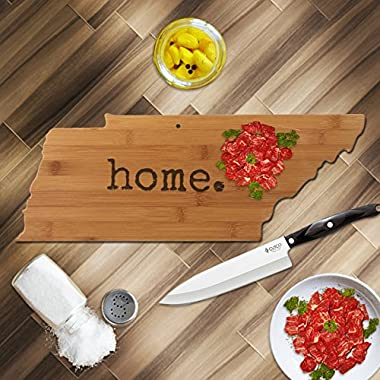 Tennessee is  home  State Bamboo Cutting Board