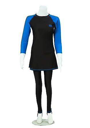 Huxlay Bros Hb Ladies Classic Modest Swimwear Full Length Modest