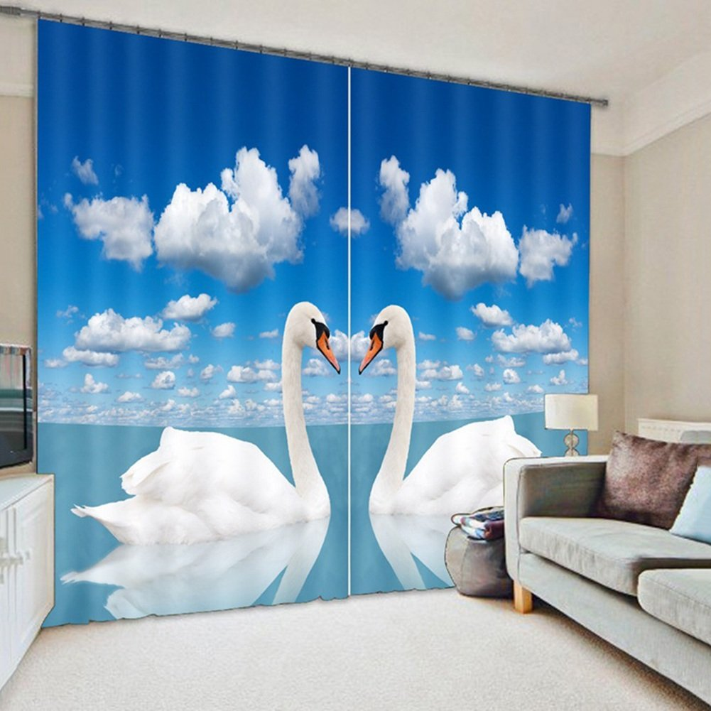 QIANGDA カーテン 3Dカーテン ポリエステル ブラックアウトを暗くする ノイズ減少 断熱 窓処理 寝室2つのパネルのセット、 2つのスタイルオプション、 カスタマイズされたサイズ ( 色 : 2# , サイズ さいず : W 2m x H 2.4m ) B078ZD7QF5 W 2m x H 2.4m|2# 2# W 2m x H 2.4m