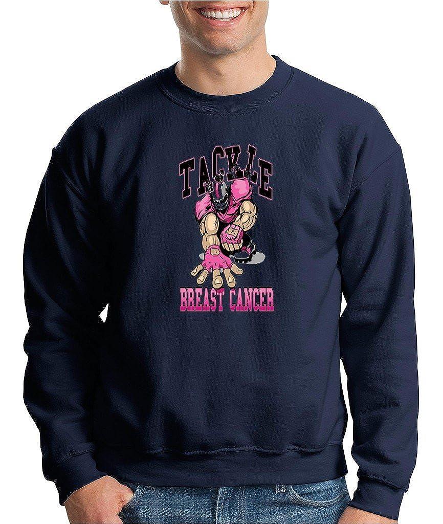 Tackle Breast Cancer Crewneck Breast Cancer Survivor Awareness Pink Sweatshirt