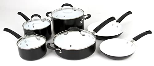 Oneida 10pc Aluminum PFOE/PTFE Free Non-Stick Ceramic Cookware Set