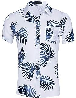db9ac6936 Cyparissus Hawaiian Shirt Men's Hawaiian Shirts for Men Cotton Button Down  Shirt for Beach