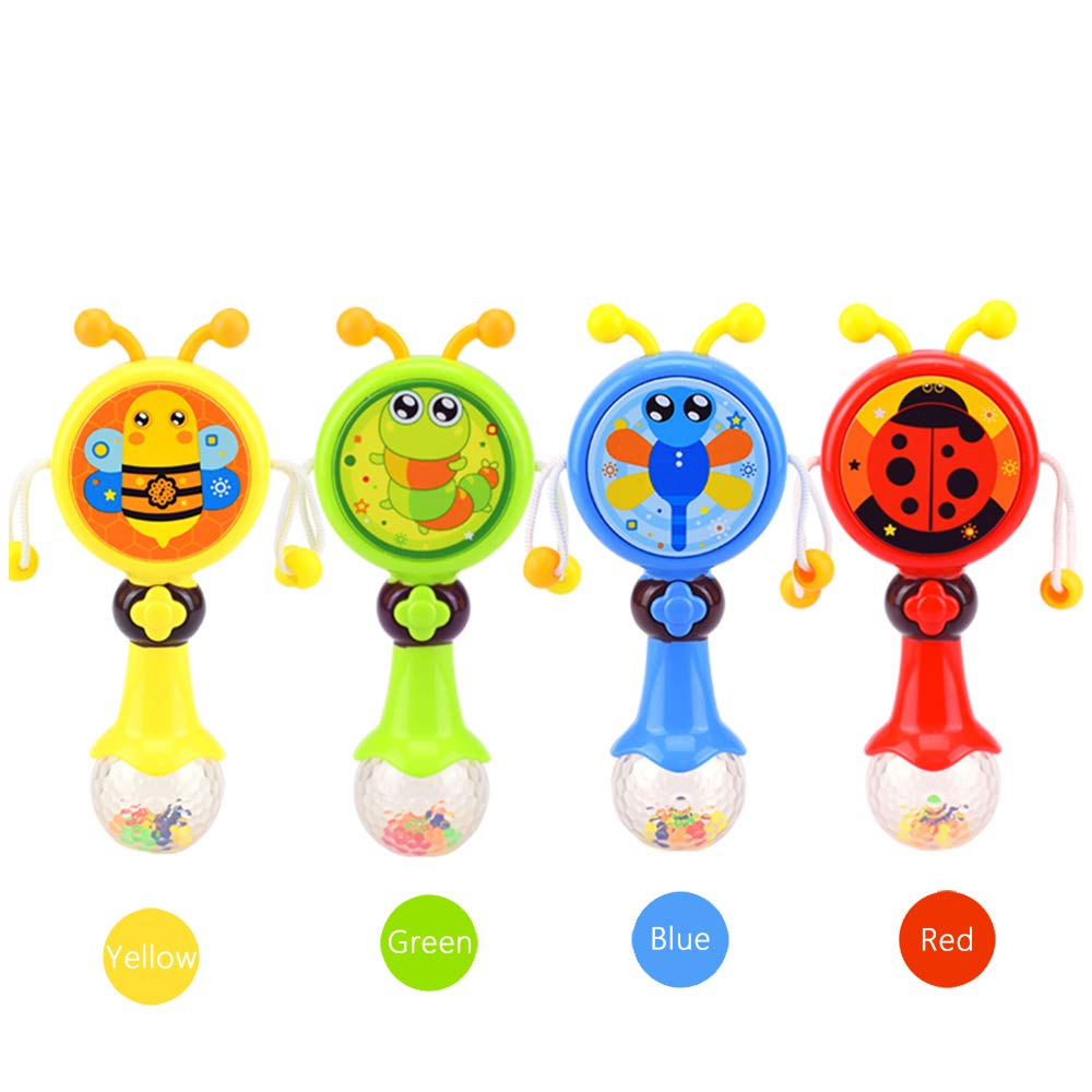 Red Great Toys Store Baby Rattle /& Teething Toy with Multi-Function