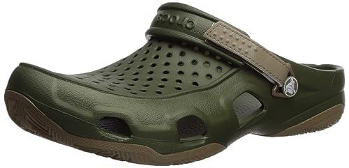 1162f976dd05 crocs Men s Swiftwater Deck Clog M Green Clogs-M10 (203981-354-M10