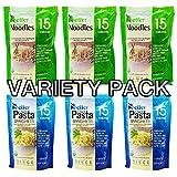 Better than foods (3 Pasta, 3 Noodle) Variety pack, Vegan, Gluten-Free, Non-GMO, Konjac, Shirataki (6 pack/84oz)