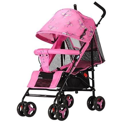 JZM Oubao Cochecito De Bebé Ultra Ligero Portátil Plegable Puede Sentarse Reclinable Niño Bebé Niño Trolley