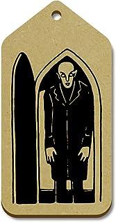 Azeeda 10 x Grand 'Vampire Effrayant' etiquettes de Bagage / Cadeau en Bois (TG00069344)