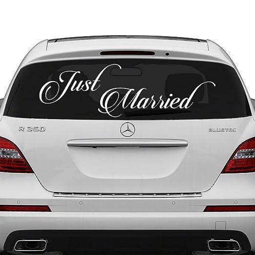 80 x 28 cm) diseño de recién casados vinilo adhesivo de ...