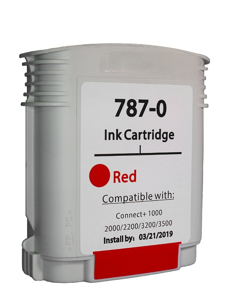 Pitney Bowes compatible 787-0 Red Ink Cartridge for Connect+ Series Mailing Machines
