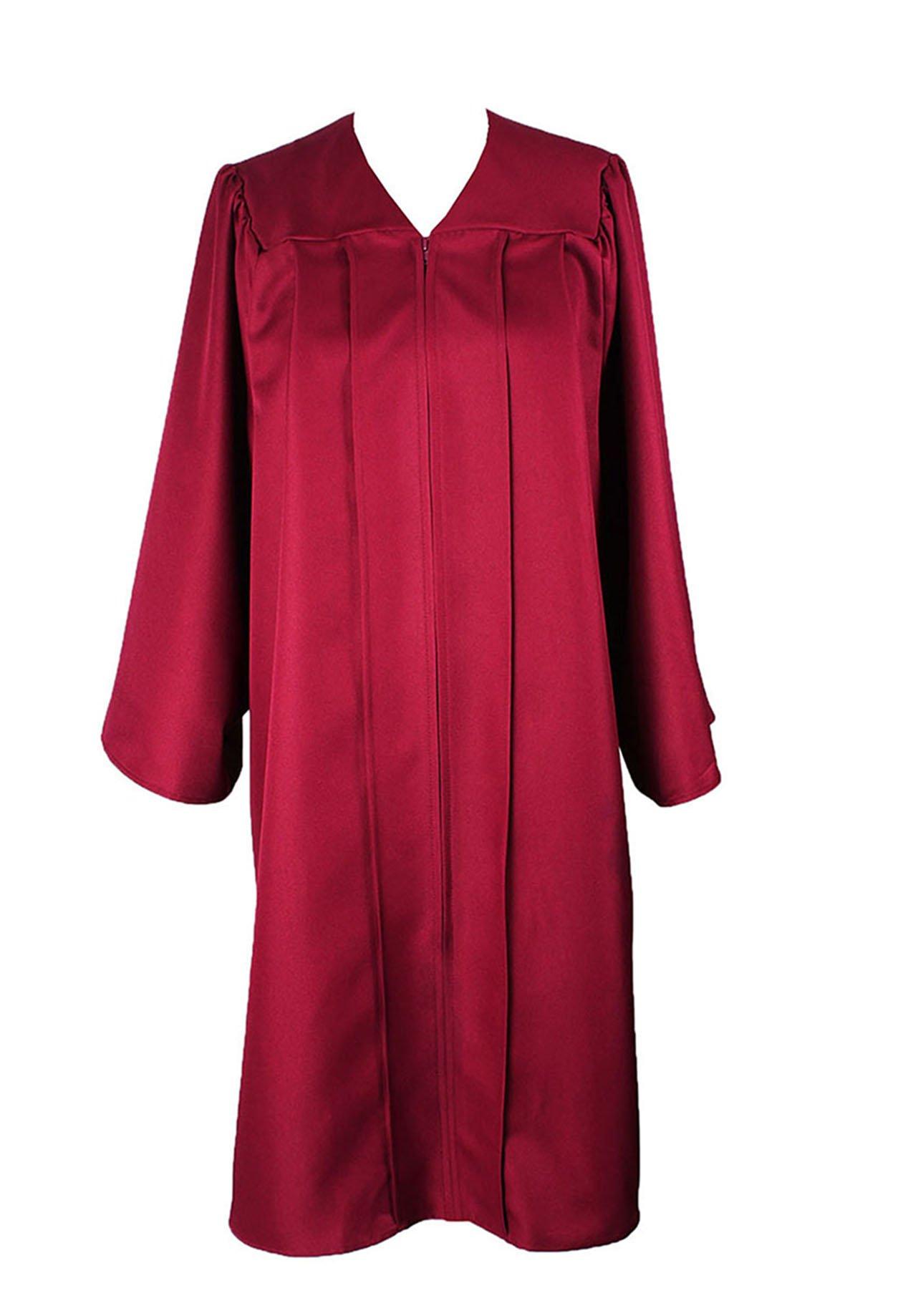 fd0337dd0fc GradPlaza Unisex Adult Graduation Gown Economic Choir Robe Matte Gown Only  Maroon