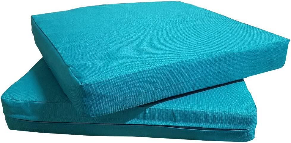 QQbed Patio Cushion Covers for Outdoor Deep Seat Lounge 20X18, Teal