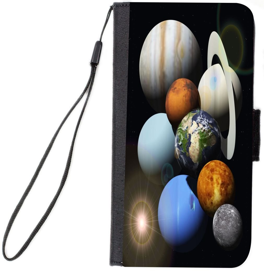 Rikki Knight Folio Case for Samsung Galaxy S9 - Solar System Planets Design