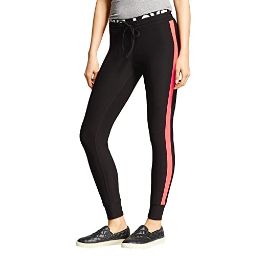 8952f48d39a36c Inspired Hearts Women's Juniors' Neon Stripe Jogger Legging Pants at Amazon  Women's Clothing store: