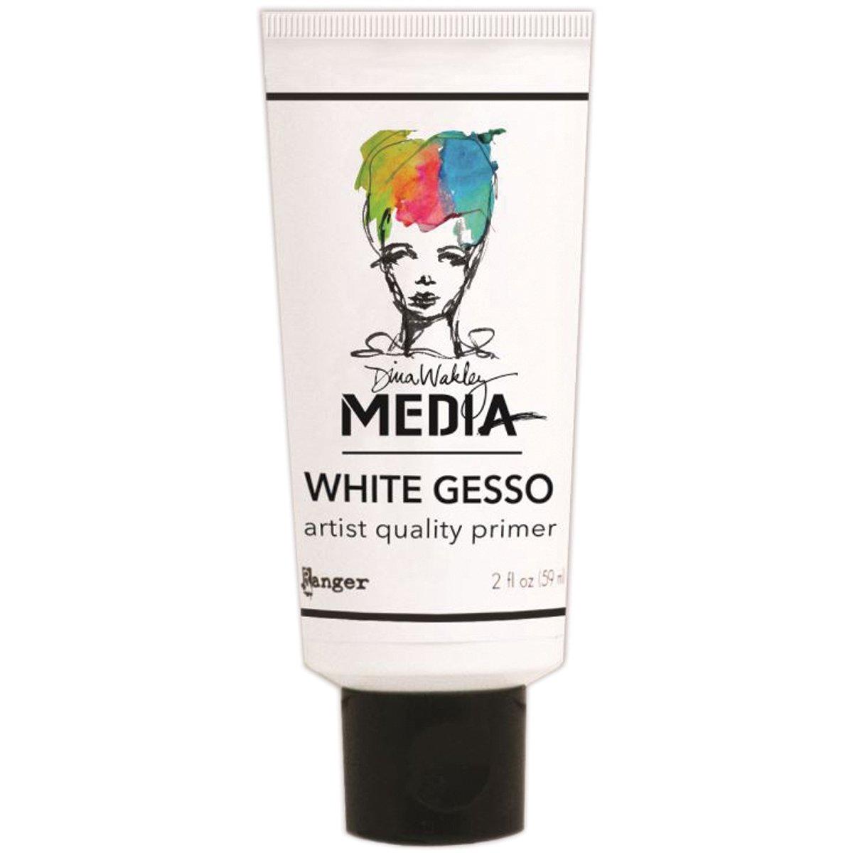 Ranger Dina Wakley Media Gesso Tube, 2-Ounce, White MDM41672