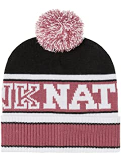 Amazon.com  Victoria s Secret Pink Knit Beanie Maroon  Clothing 943814be126e
