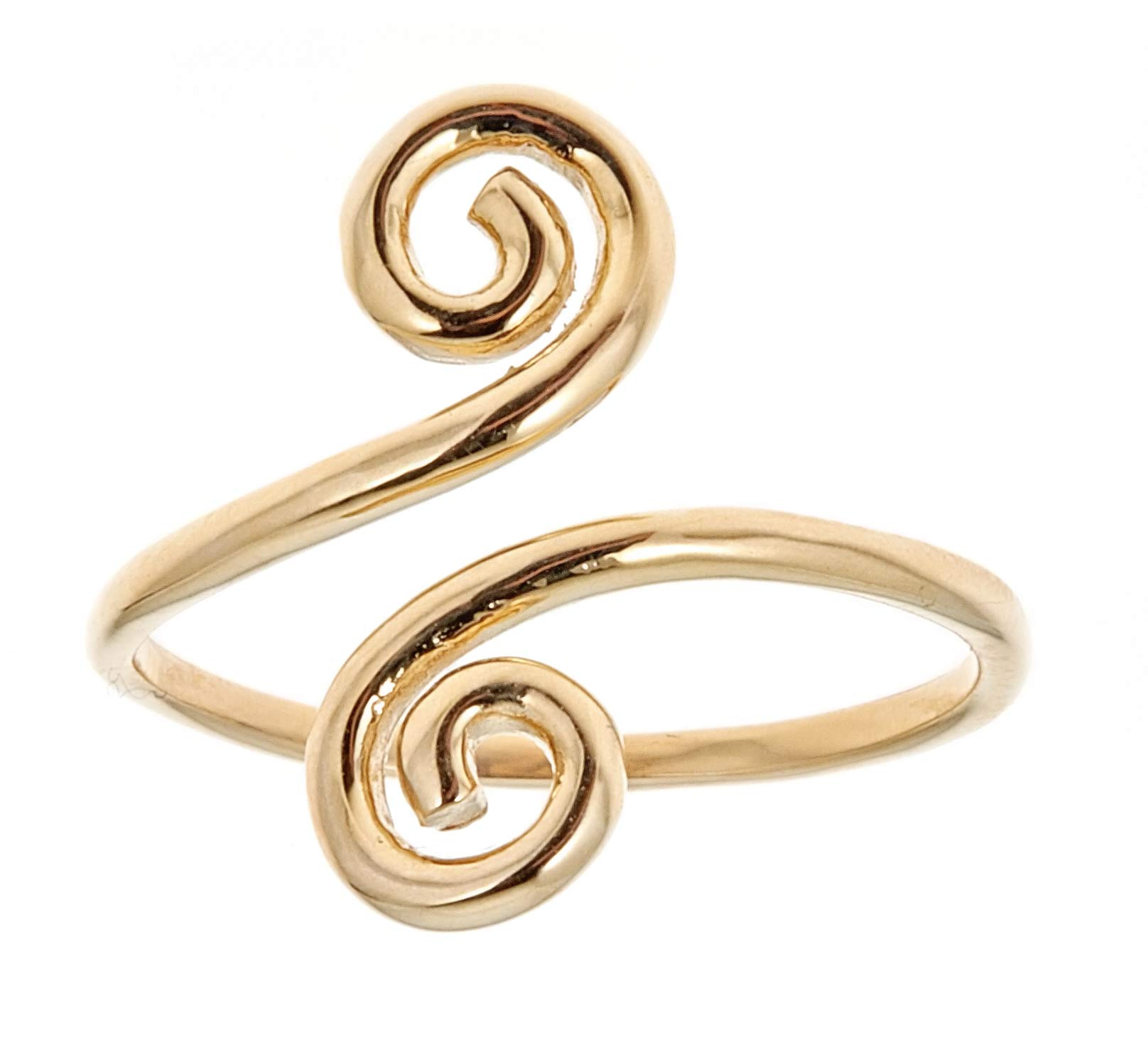 Ritastephens 14k Solid Yellow Gold Swirl Adjustable Ring or Toe Ring by Ritastephens