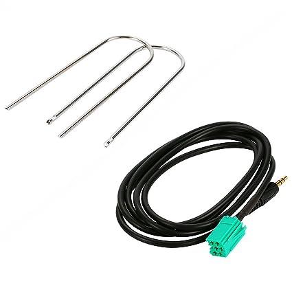 Cable auxiliar Gankarii®, para piezas de audio de auto Renault, conector de 3,5 mm ...