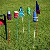 Sunnydaze Heavy-Duty Red, White and Blue Outdoor Drink Holder Set of 6