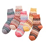 Womens Winter Warm Socks Vintage Crew Socks Dot