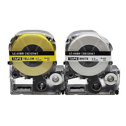 Cartucho de cinta de etiquetas SZEHAM de 2 paquetes Compatible ...