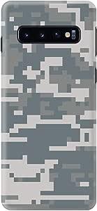 حافظة Stylizedd لهاتف سامسونج جالاكسي S10 بلس كلاسيكي نحيف بلمسة نهائية مطفأة اللمعة - Digital Camo