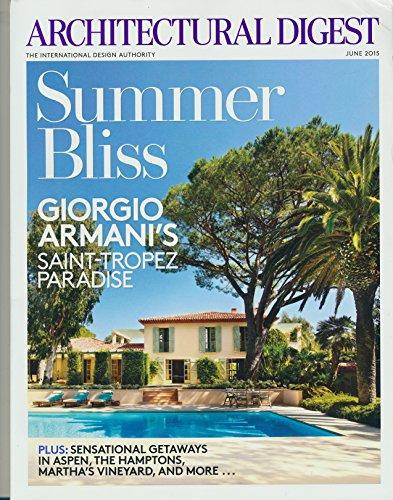 Architectural Digest Magazine Giorgio Armani June - 2015 Giorgio Armani