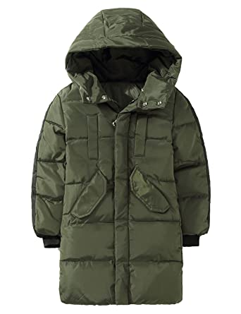 af5b6f965e638 Echinodon Kinder Daunenjacke Lang Verdickt Jacke mit Kapuze Mädchen Jungen Winterjacke  Winter Herbst  Amazon.de  Bekleidung