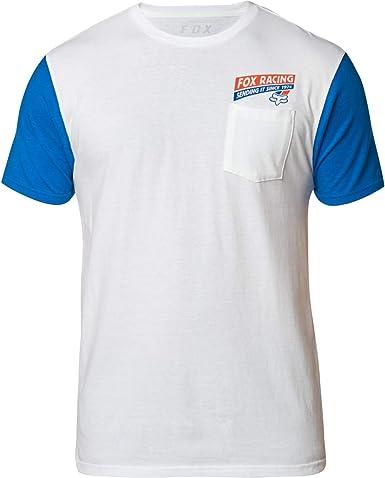 Fox Sending IT - Camiseta, color blanco y azul: Amazon.es: Ropa y accesorios