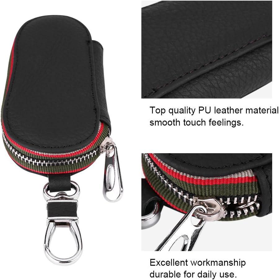 protecci/ón de las llaves de coche funda de piel PU Cas de protectora llavero negro//marr/ón para todos los coches