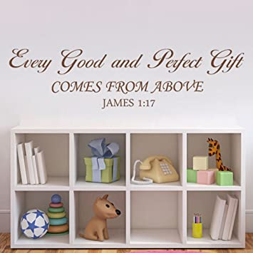 geckoo bible verseevery good and perfect gift wall decal baby nursery quote