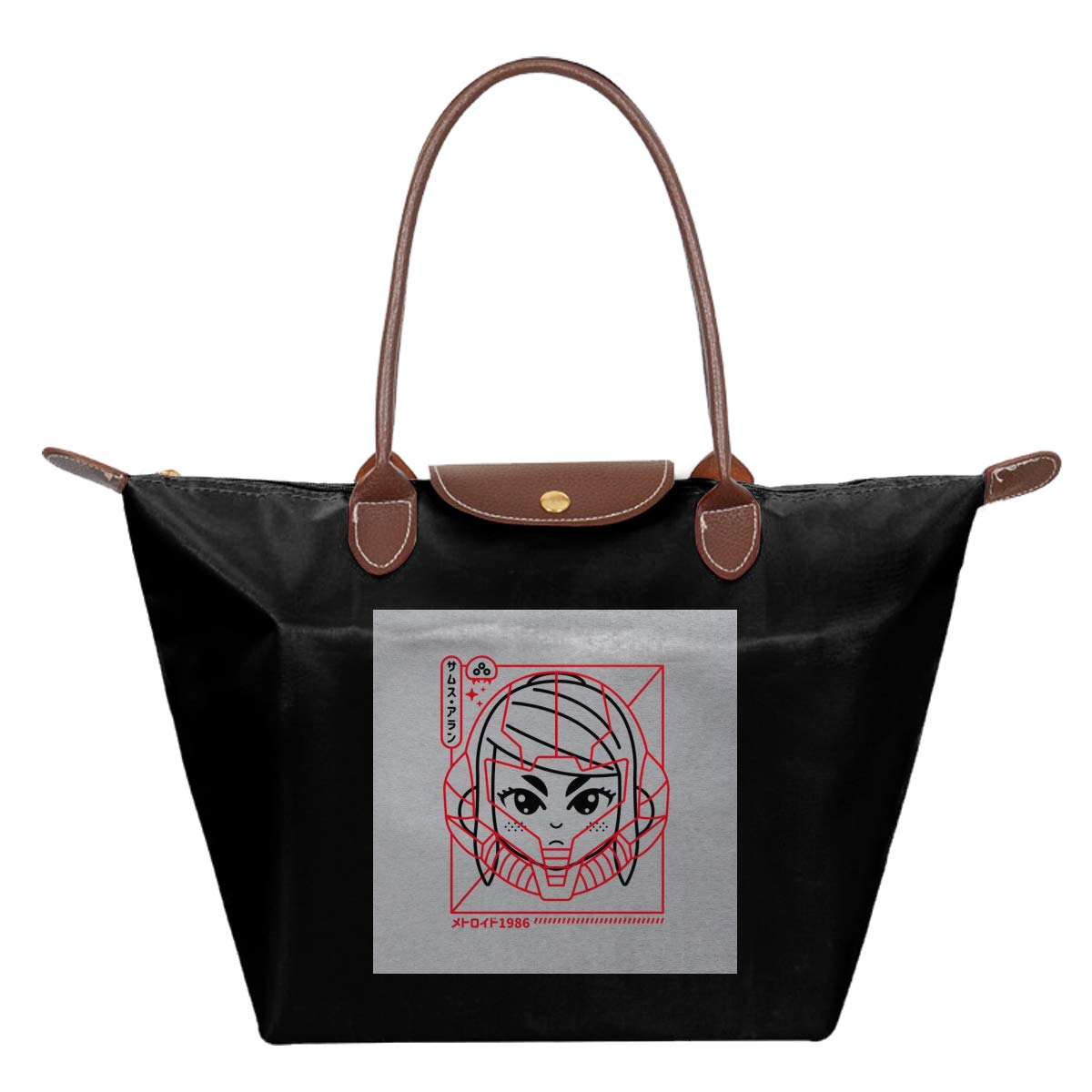 Cyber Helmet Metoroid Waterproof Leather Folded Messenger Nylon Bag Travel Tote Hopping Folding School Handbags