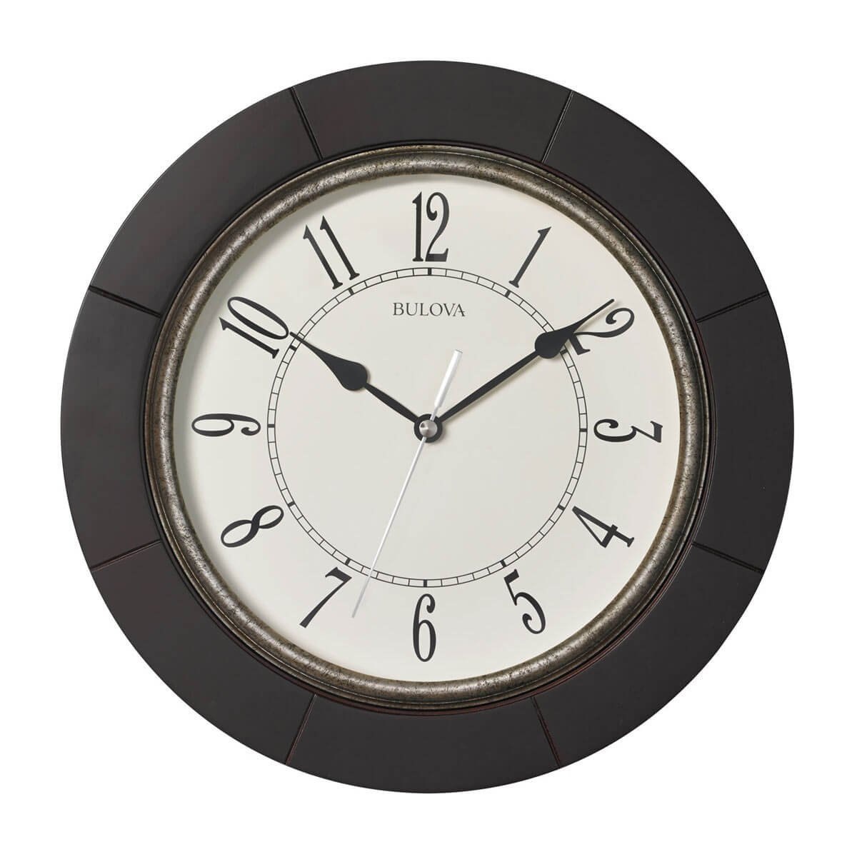 Amazon Bulova Decor Wall Clock Hill Cherry Home Kitchen