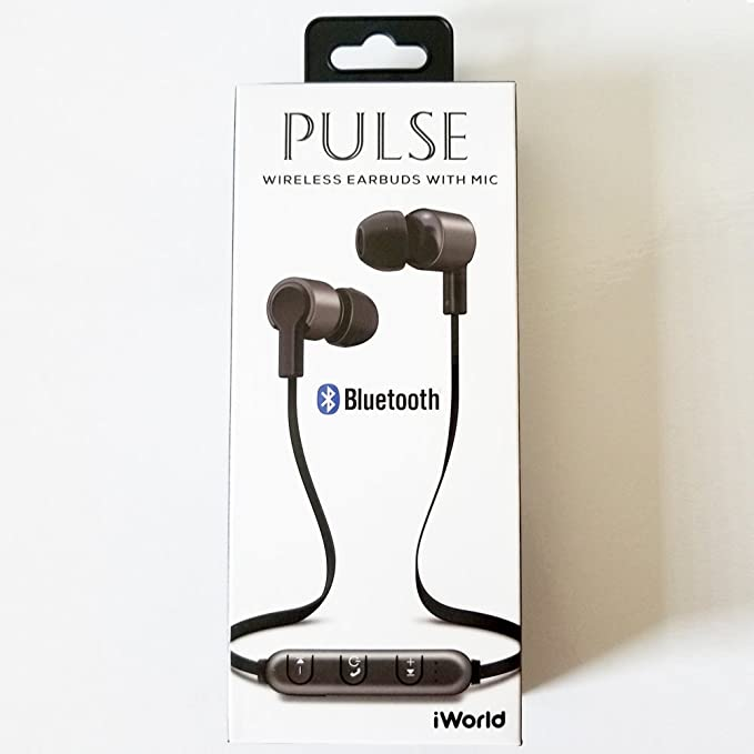 d0c3879d6b9 Image Unavailable. Image not available for. Color: iWorld Pulse Wireless  Bluetooth Earbuds with Microphone ...