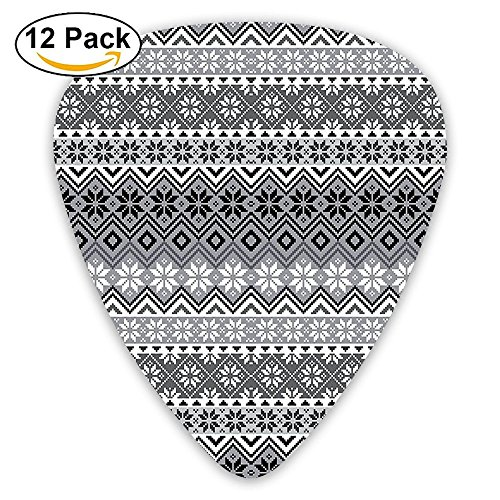 Traditional Duty Boots - Newfood Ss Nordic Snowflake Knit Patterns Scandinavian Motifs Traditional Modern Print Chic Guitar Picks 12/Pack Set