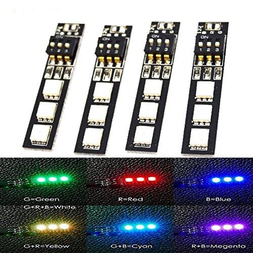 ShareGoo-4PCS-7-Colors-5V-5050-RGB-LED-Strip-Night-Light-with-DIP-Switch-for-QAV250-FPV-210-ZMR250-F450-F550-Quadcopter