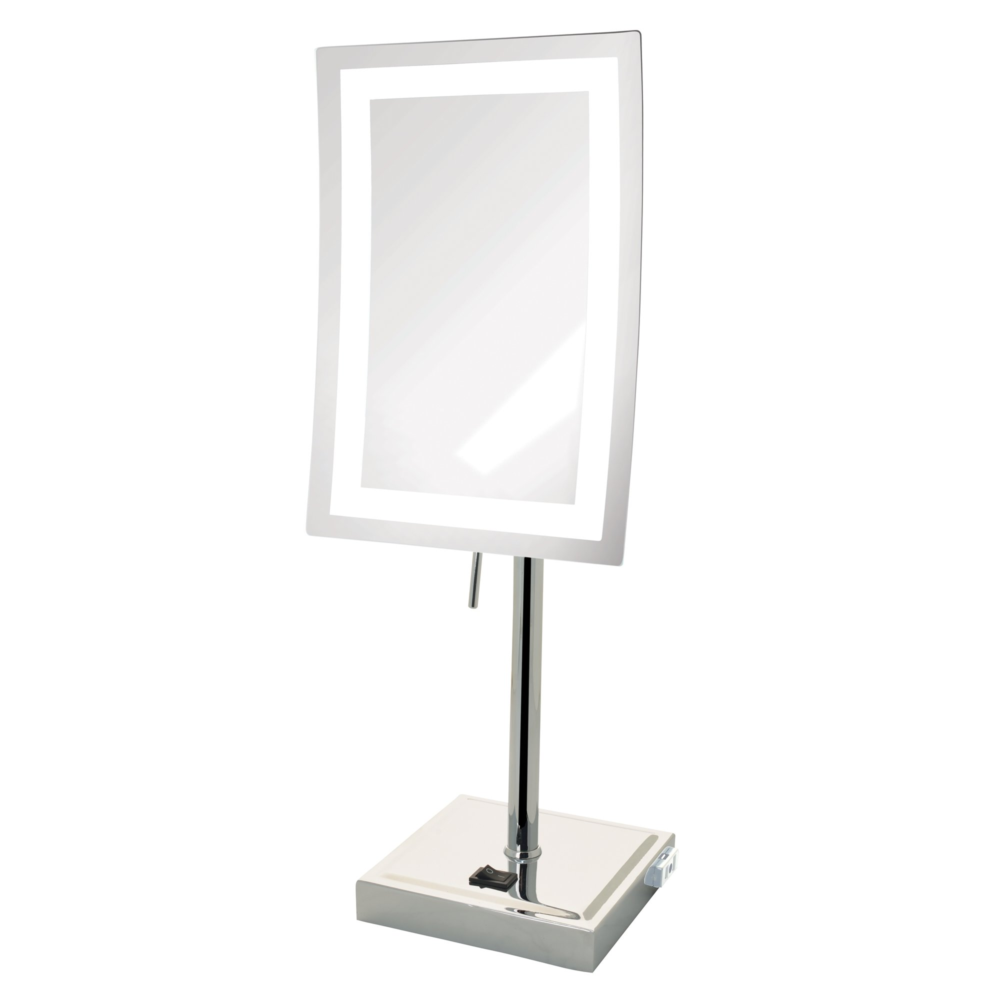 Jerdon JRT910CL 5X Magnified Lighted Tabletop Rectangular Mirror, Chrome Finish, 67.2 Ounce