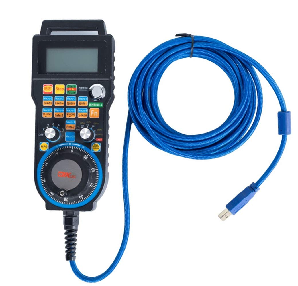 SHINA Upgrade 6 Axis Mach3 5M Wired USB HandWheel Pulse 100PPR Optical Encoder Generator MPG Pendant CNC Control
