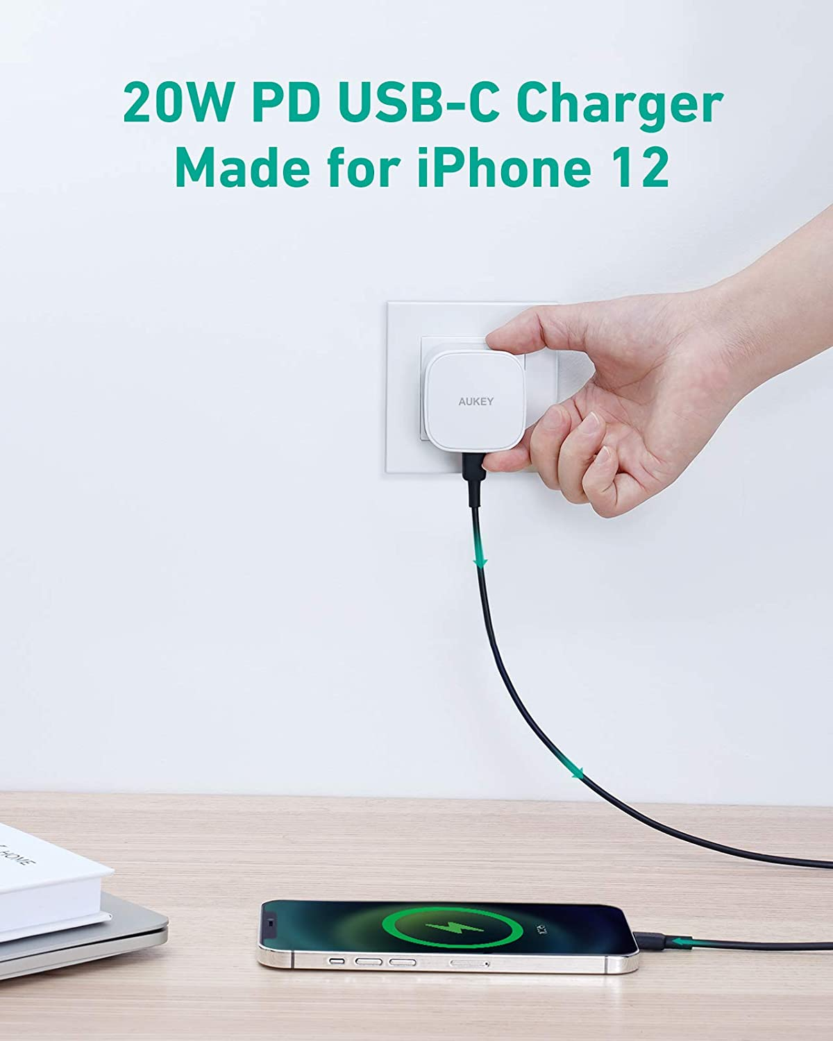20W USB C Charger iPhone 12 Charger White Power Delivery 3.0 Fast ...